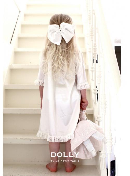 Saténová noční košile set bílá + růžová set 2