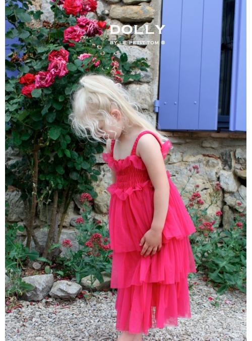 Pohádkové šaty fuchsiové