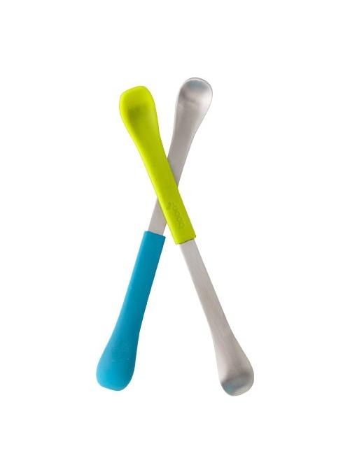 SWAP - 2 v 1 lyžička na kŕmenie modro zelená