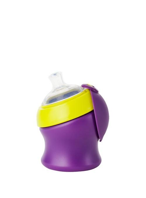 SWIG - malá láhev / pohár fialovo zelený