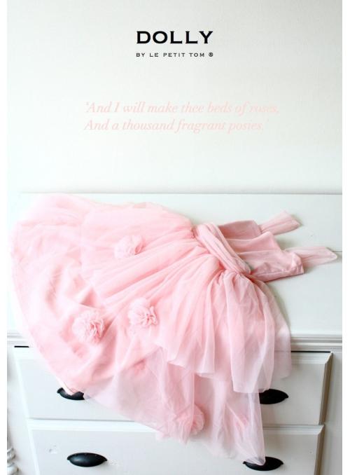 Šaty růžové zahrady růžičkově růžové