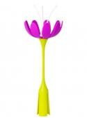 STEM - doplnkový sušiak na trávu/záhon – fialový kvet