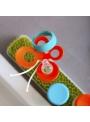 FLY - doplňkový sušák na trávu/záhon - oranžový motýlek