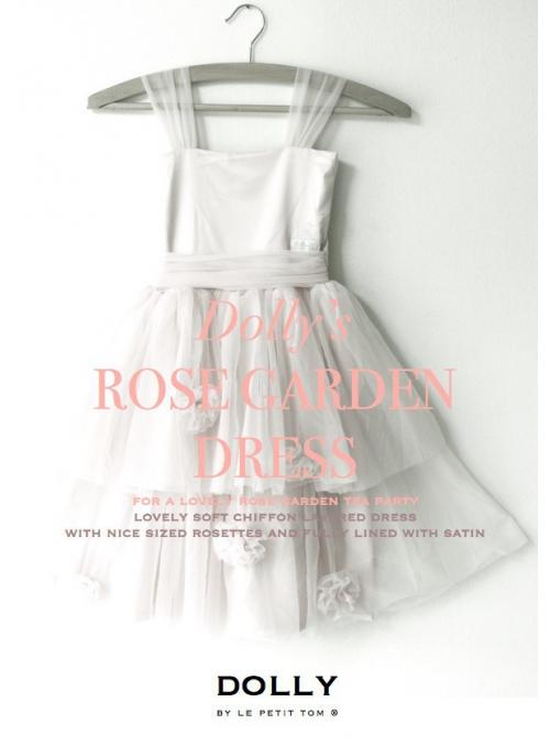 Šaty růžové zahrady smetanově bílé