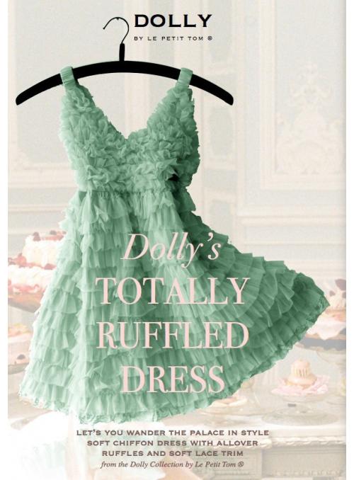 Úplně nařasené šaty mentolově zelené