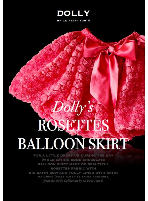 Růžičková balonová sukně s mašlí fuchsiová