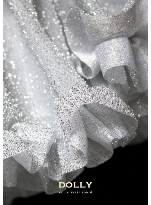 Třpytivá DOLLY sukýnka stříbrná