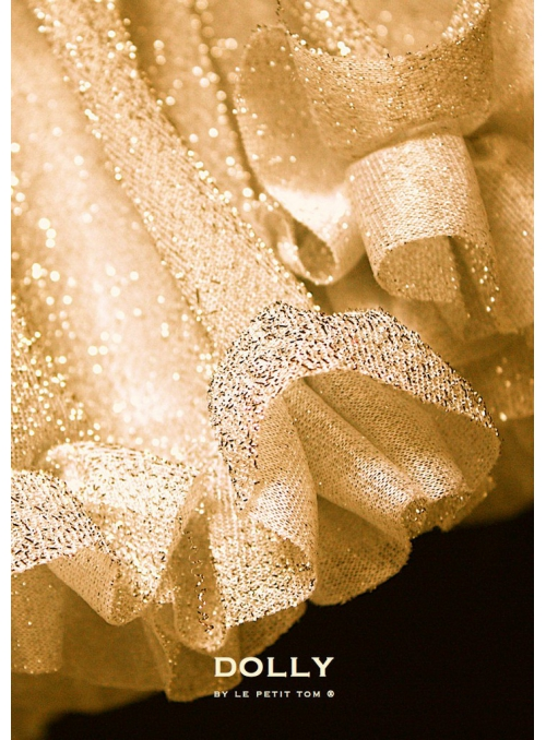 Třpytivá DOLLY sukýnka zlatá