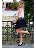 ROSETTE BALLOON SKIRT WITH BIG BOW black