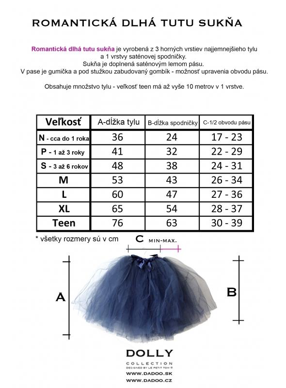 romantická dlouhá tutu sukňa