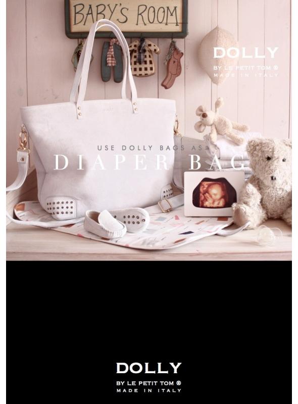 DOLLY Moccasin kabelka bílá brousená kůže
