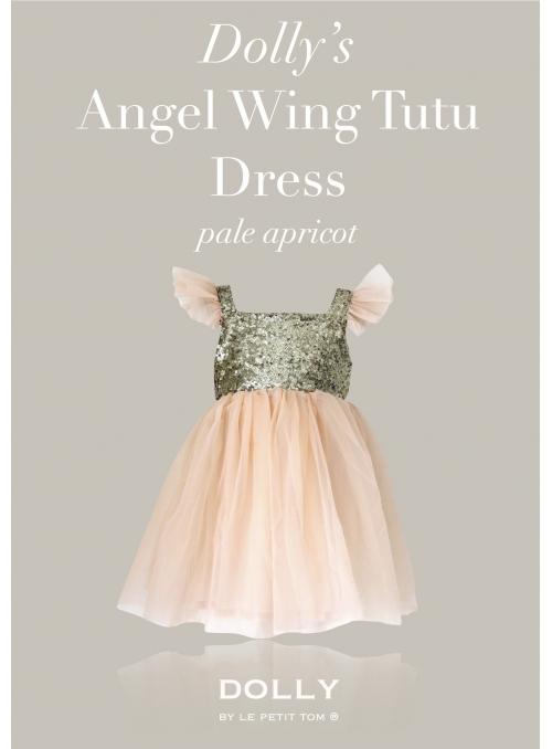 DOLLY šaty Andělské křídla , meruňkové
