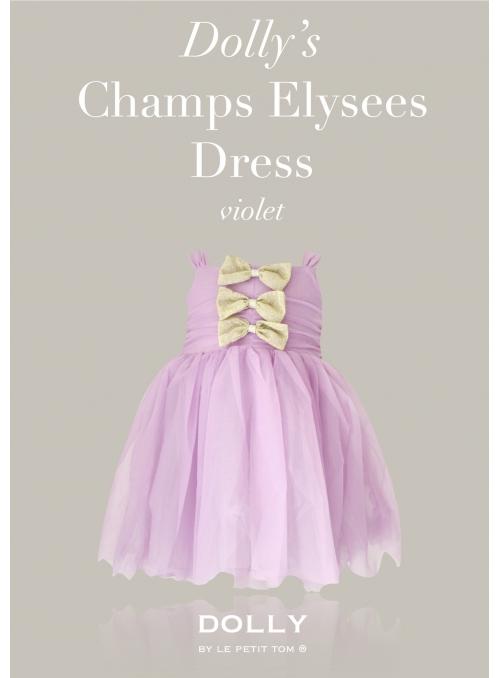 DOLLY šaty Champs Elysees - fialové