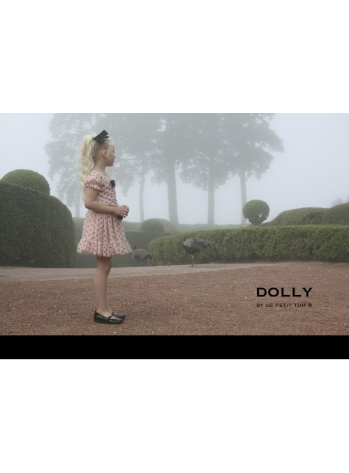 DOLLY dotted skirt - ballet pink with black dots