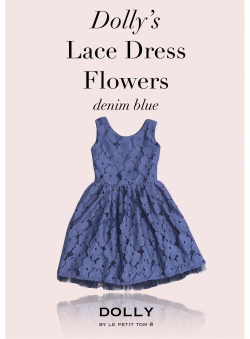DOLLY krajkové květové šaty - námořnická modrá