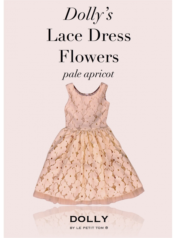 DOLLY floral lace dress - peach