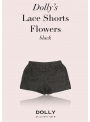 DOLLY lace shorts - black