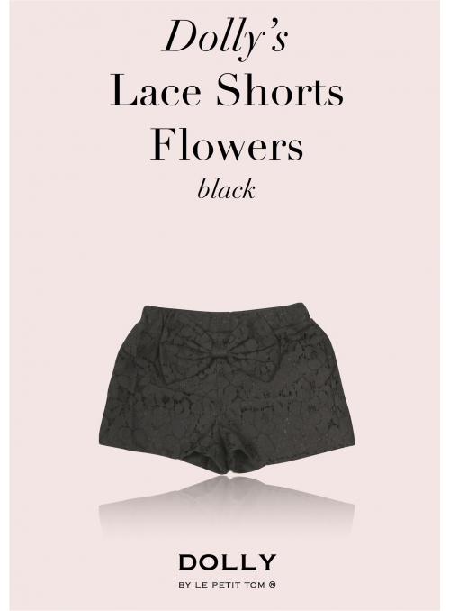 DOLLY krajkové šortky – černé