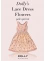 DOLLY krajkové květové šaty – broskvové