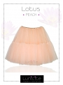 Lunicite BROSKVOVÝ LEKNÍN – exkluzivní nadýchaná sukně – broskev