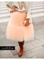 Lunicite PEACH waterlily - exclusive fluffy skirt - peach