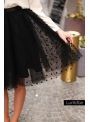 Lunicite BLACK PEAS - exclusive tulle skirt with polka dots, black