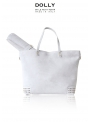 DOLLY MOCCASIN diaper bag white leather