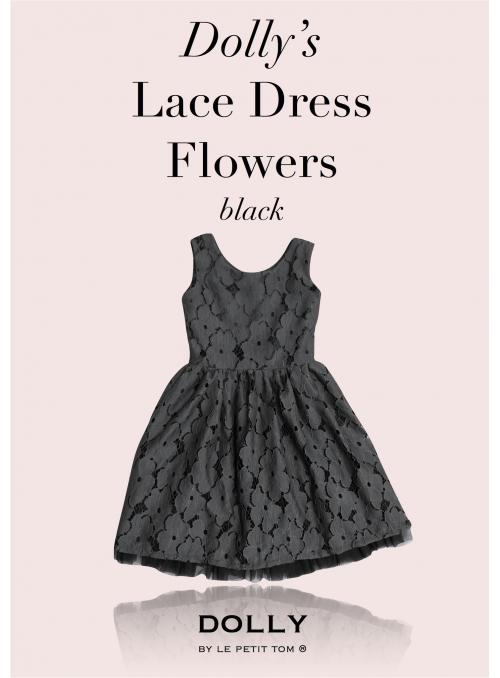 DOLLY čipkové kvetové šaty – černé