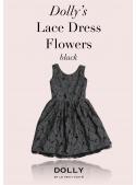 DOLLY krajkové květinové šaty – černé