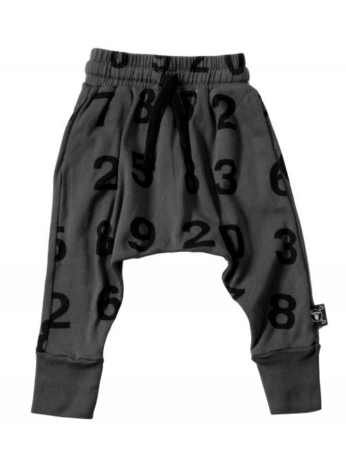 Dětské pudlové kalhoty – čísla, tmavošedé