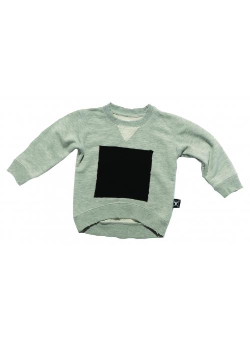 Dětský svetr se čtvercem , šedý