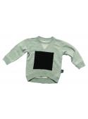 Detský sveter so štvorcom, šedý