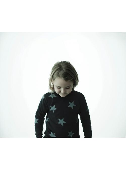 Detský sveter s hviezdičkami, čierny