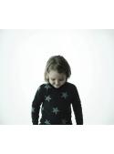 Dětský svetr s hvězdičkami, černý