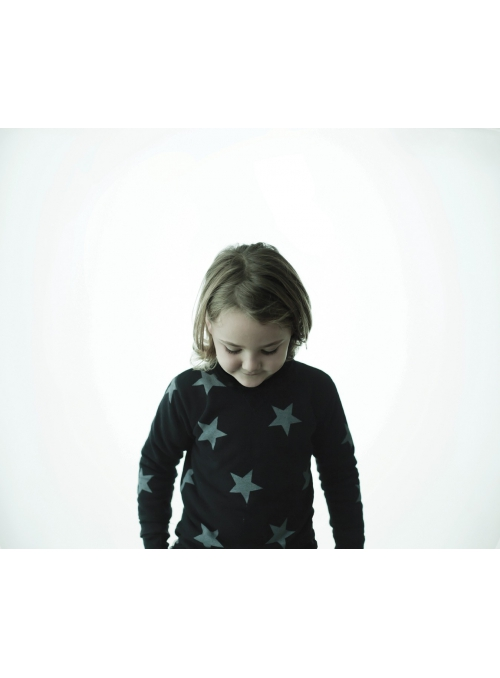 Dětský svetr s hvězdičkami, šedý