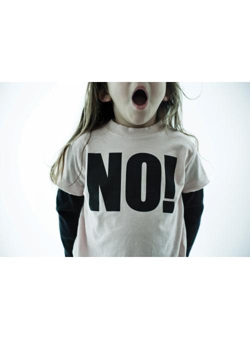 Dětské tričko s dlouhým rukávem NO ! Šedé