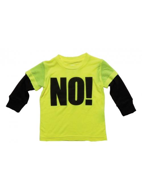 Dětské tričko s dlouhým rukávem NO ! Neonové