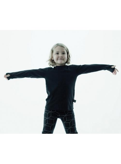 Dětské tričko s dlouhým rukávem a rukavicovým efektem , šedé