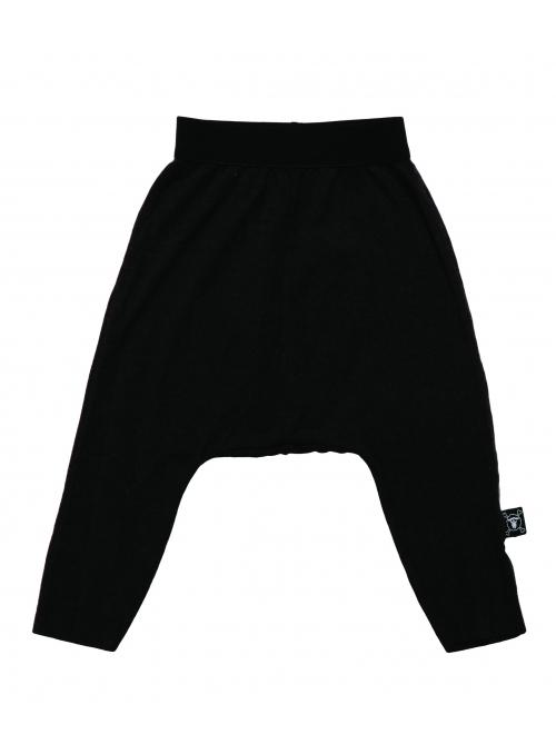 Detské pudlové nohavice padavé, čierne