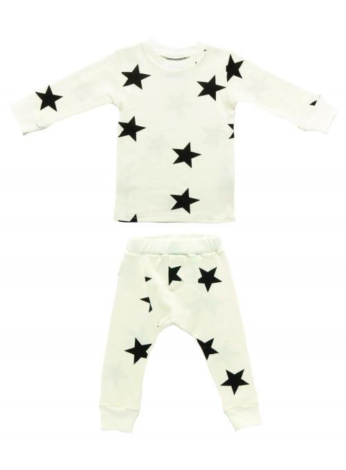 Pyžamo s hvězdičkami, bílé