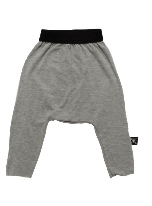 Dětské pudlové kalhoty splývavé , šedé