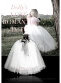 ROMANTIC LONG TUTU white + blue