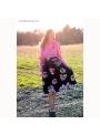 Midi sukňa s broskyňovým kvetom