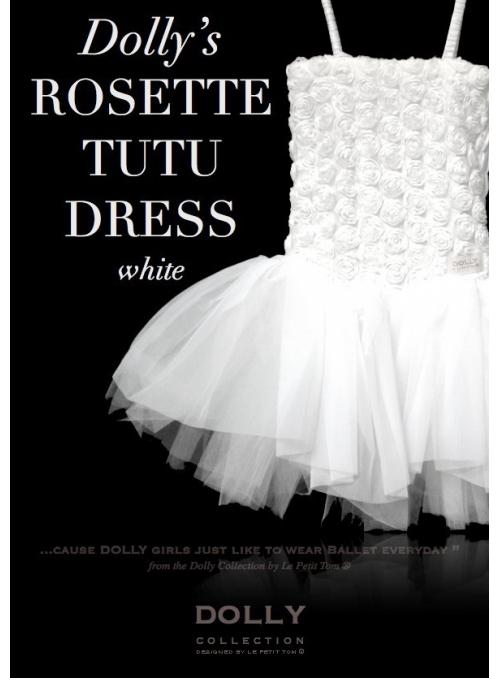 ROSETTE TUTU DRESS white