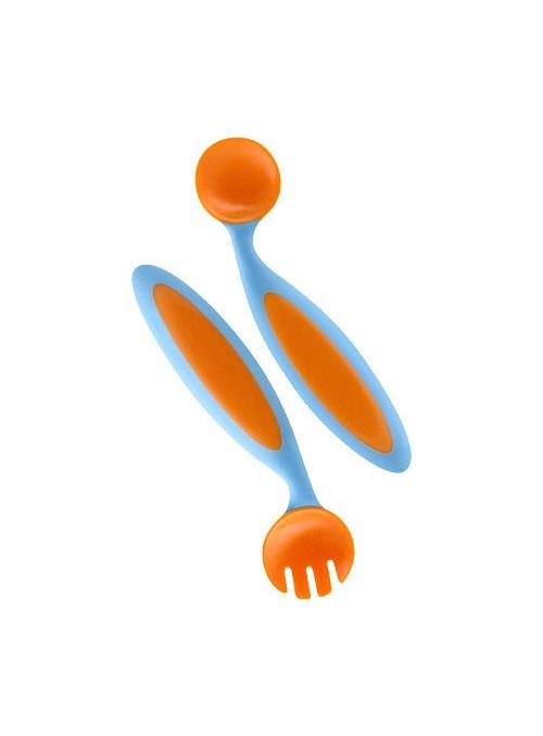 Benders - ohebný dětský příbor , kombinace modrá + pomerančová