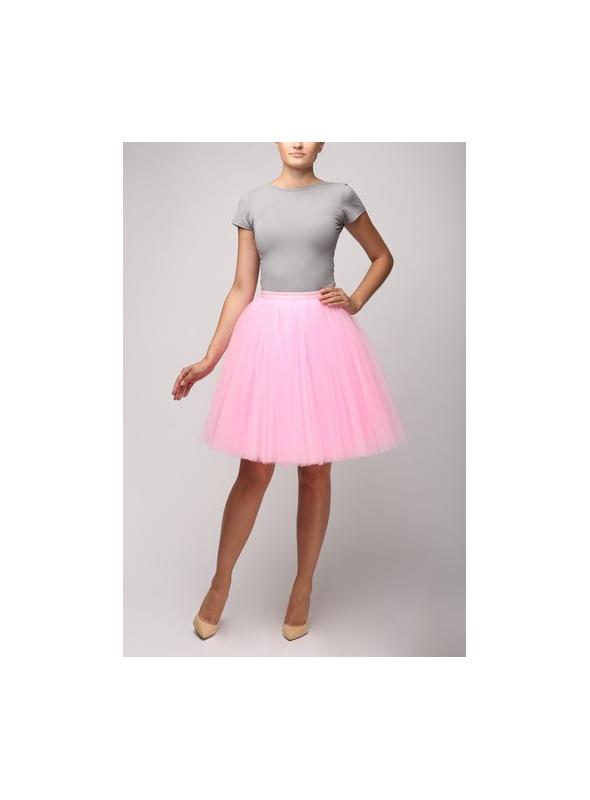 Tylova sukně sladká růžová-krátká 58cm