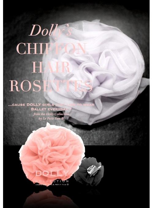 Šifonová růžička růžová