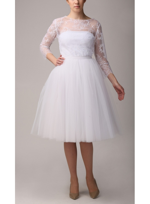 Tylova sukně baletní bílá 72 CM