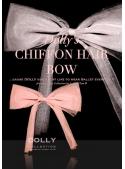 CHIFFON HAIR BOW ballet pink