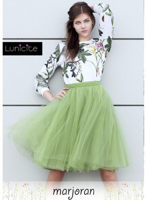 Lunicite MAJORÁNKA - exkluzivní tylová sukně z bylinkové kolekce